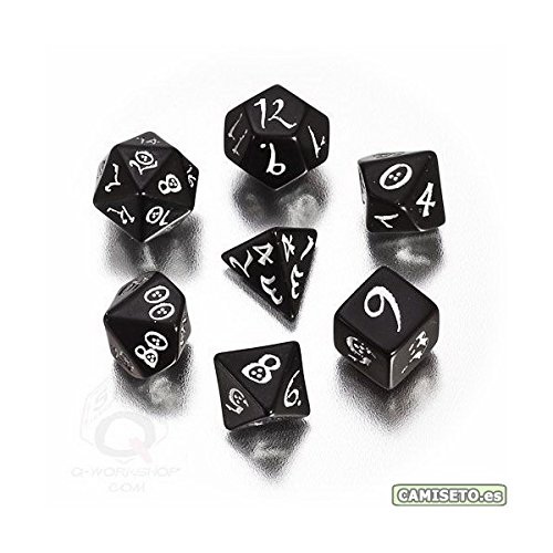 Classic RPG Dice Black/White (7) Board Game