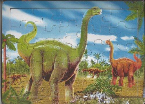 25 Piece Wood Dinosaur Puzzle (Brontosuarus) - 1