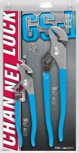 Channellock Gs-1 2 Piece 9-1/2-Inch And 6-1/2-Inch Tongue And Groove Plier Set