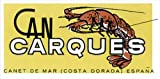 L2137 LARGE CAN CARQUES LOBSTER COSTA DORADA ESPANA SPAIN VINTAGE STYLE METAL ADVERTISING WALL SIGN RETRO ART