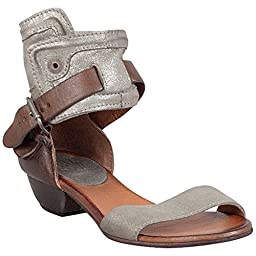 Miz Mooz Women\'s Cali Dress Sandal, Pewter, 40 EU/9.5 M US