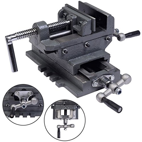 Best Deals! 4 Cross Drill Press Vise X-Y Clamp Machine Slide Metal Milling 2 Way HD