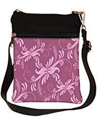 Snoogg Abstract Marron Pattern Design Cross Body Tote Bag / Shoulder Sling Carry Bag