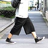 ガウチョパンツ ブラック 黒 袴パンツ ワイドパンツ