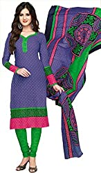 Komal arts Ethnicwear Women's Dress Material(Komal arts_SHREE4664_Purple_Free Size)