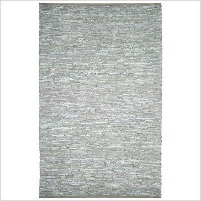 St. Croix Trading LCD Leather Chindi Area Rug, White