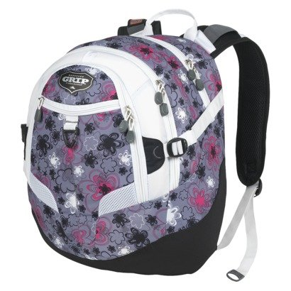 Grip By High Sierra Gray Neon Flowers Mainstream Backpack front-304081