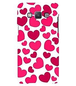 Printvisa Premium Back Cover Pink Hearts Pattern Design For Samsung Galaxy A7::Samsung Galaxy A7 A700F