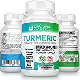 Turmeric Anti Inflammatory Supplement: Extra Strength Complex With Curcumin, Ginger, Boswellia & BioPerine® - Formulated By Clinical Nutritionist Dr. Olivia Joseph