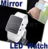 Mirror Men Lady LED Digital Sport Unisex Watch Gift Jelly