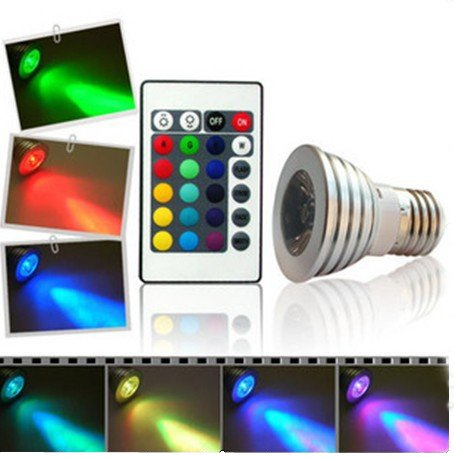tinxi rgb led spot lampe strahler gu10 230v 3watt multicolor farbwechsel dimmbar inklusive. Black Bedroom Furniture Sets. Home Design Ideas