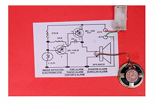 Shadow Alarm, Burglar Alarm, Visitor's Alarm, Smoke Detector, Fire Alarm. Demonstration and Understanding Circuit Kit. School Project College Electronic Project. Educational Toy