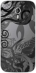 Snoogg Grey abstract Designer Protective Back Case Cover For Micromax A116