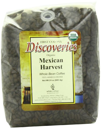 First Colony Organic Whole Bean Coffee, Mexican Harvest, 24-Ounce (Mexican Coffee compare prices)