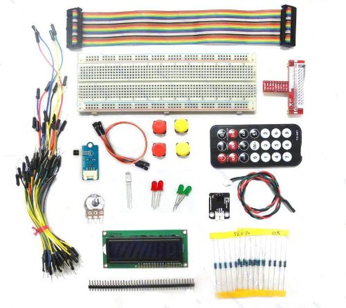 Raspberry Pi Gpio Electronics Starter Kit 1602 Lcd,T-Cobbler,Ir Remote,Switch