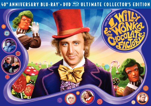 Cover art for  Willy Wonka &amp; the Chocolate Factory (Three-Disc 40th Anniversary Collector&#039;s Edition Blu-ray/DVD Combo)