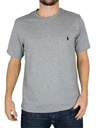 Polo Ralph Lauren - Gris Logo Crew Neck T-Shirt - Homme - Taille: M