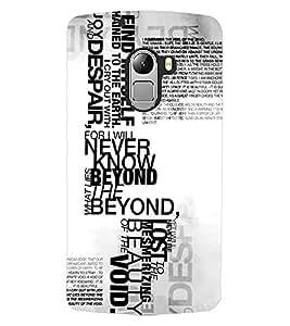 ColourCraft Typography Design Back Case Cover for LENOVO VIBE K4 NOTE