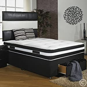 Hf4you 4ft 6 double 2000 pocket sprung divan bed 2 for 4 foot divan beds with drawers