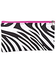 Zebra Hot Pink Cosmetic Makeup Bag Small