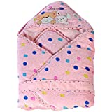 Mee Mee MM-98023A Baby Warm Wrapper Cum Blanket With Hood (Pink)