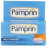 Pamprin Maximum Strength Multi-Symptom Menstrual & Period Relief Caplets, 40 Count Box.