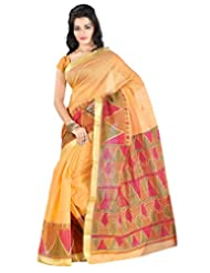 Roopkala Silks & Sarees Cotton Silk Saree With Blouse Piece (Ga-1121 _Light Orange)