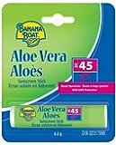 Banana Boat Aloe Vera W/vitamin E Lip Balm SPF 45, .15-Ounce, (Pack of 24)