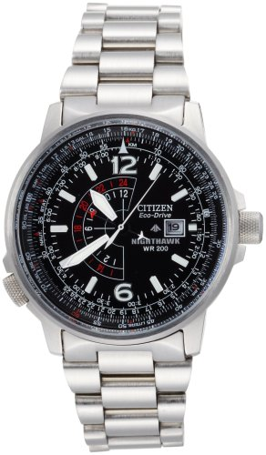 Citizen Men's BJ7000-52E Eco-Drive Nighthawk Stainless Steel Watch