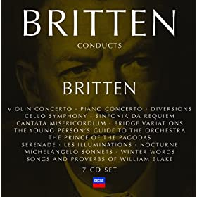 "Britten: Nocturne for tenor, 7 obligato instruments & strings, Op.60 - 1. ""On A Poet's Lips I Slept"""
