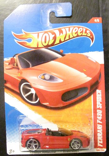 Hot Wheels 2011 Ferrari F430 Spider, 190/244 Thrill Racers - Highway 4/6, 1:64 Scale (Red) - 1