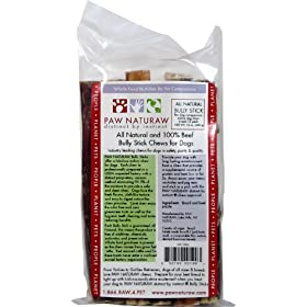 Paw Naturaw All Natural Bully Sticks for  , 6 Inch, 12-Count, 12 Ounce Bag
