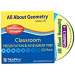 NewPath Learning All About Geometry Interactive Whiteboard CD-ROM, Site License, Grade 3-6