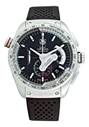 TAG Heuer Men s CAV5115 FT6019 Grand Carrera Automatic Chronograph Black Dial Watch