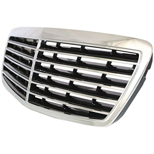 Diften 104-C1933-X01 - New Grille Grill Mercedes E Class Mercedes-Benz E320 E350 MB1200141 2118800583 (2006 Mercedes Benz E350 Emblem compare prices)