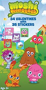 Paper Magic Moshi Monster Deluxe Valentine Exchange Cards with bonus Stickers (34 Count)
