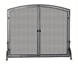 Uniflame Single Panel Iron Fireplace Screen with Doors by Blue Rhino Global Sourcing Inc