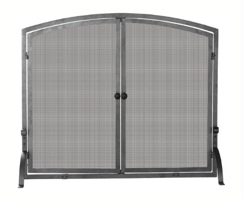 UniFlame Single Panel Olde World Iron Screen with Doors, Large (Blue Rhino Fireplace Screen compare prices)