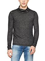 Guess Camiseta Manga Larga Ls Neck Sven Funnel Neck (Gris Oscuro)