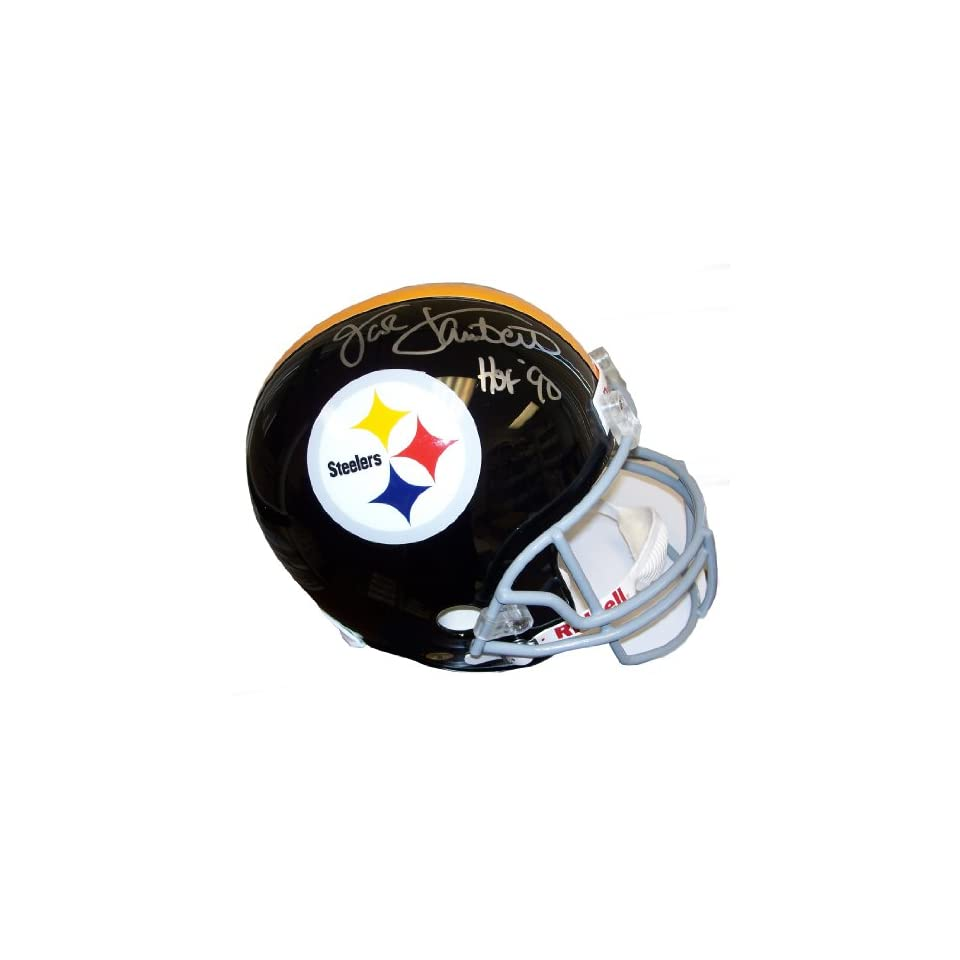 f81efeba511 Jack Lambert Autographed Steelers Gray Facemask Full Size Helmet w/ Lambert  58 Holo