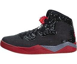 Nike Jordan Men\'s Air Jordan Spike Forty PE Black/Fire Red/Cement Grey Basketball Shoe 12 Men US