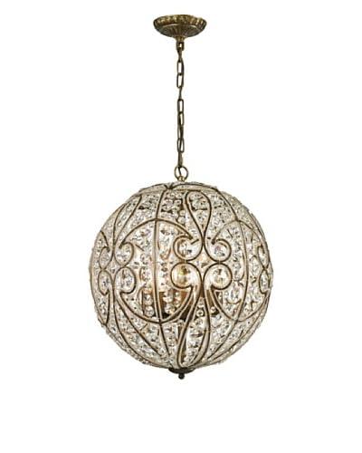 Artistic Lighting Elizabethan Collection 8-Light Pendant, Dark Bronze