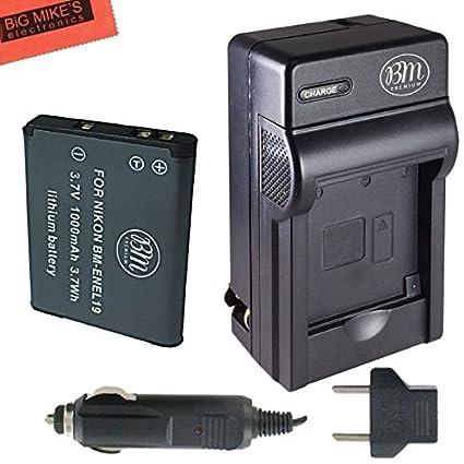 EN-EL19-Battery-&-Charger-Kit-For-Nikon-Coolpix-S32-S100-S3100-S3200-S3300-S3500-S3600-S4100-S4200-S4300-S5200-S5300-S6400-S6500-S6800-Digital-Camera-+-More!!