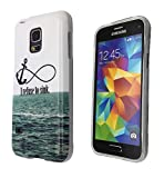 2D- Samsung Galaxy S5 Mini Anchor SEA AND Wave I refuse to sink Cool Design Fashion Trend Case Back Cover Silicone Gel Rubber Design
