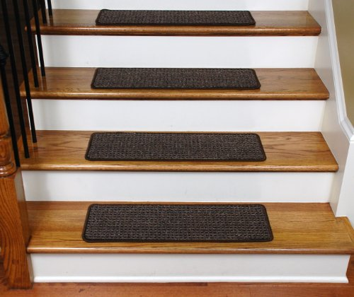 Dean Flooring Company Washable Non Skid Carpet Stair Treads Cobbler Brown 15 27 Inch Width