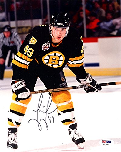 Joe Juneau Autographed 8x10 Photo Boston Bruins PSA/DNA #AA36870