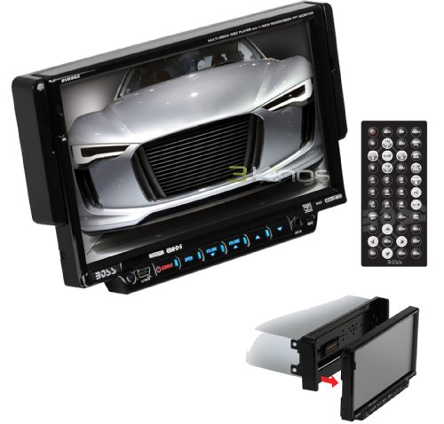 Boss BV8962 In-Dash 7-Inch DVD/MP3/CD Widescreen Receiver with USB, SD Card, and Front Panel AUX Input