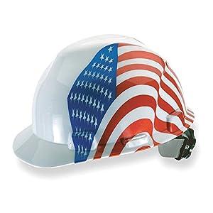 Dual American Flag V-Gard Hard Hat