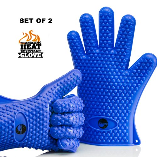 Great Deal! The Amazing Heat Resistant Silicone Kitchen and BBQ Gloves Provide Unsurpassed Quality -...
