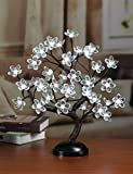 Lightshare™ NEW 16Inch 36LED Lotus Blossom Bonsai Light,Clear Flower,White Light,Battery Powered for Home Decoration
